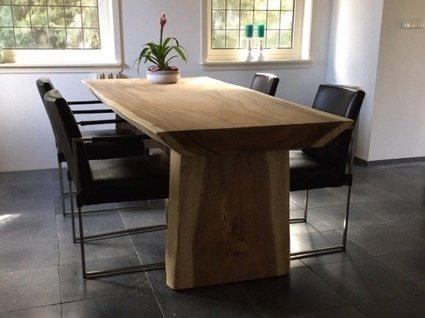 Houten Boomstam Tafel : Boomstamtafel suar hout cm puurteak tuinmeubelen