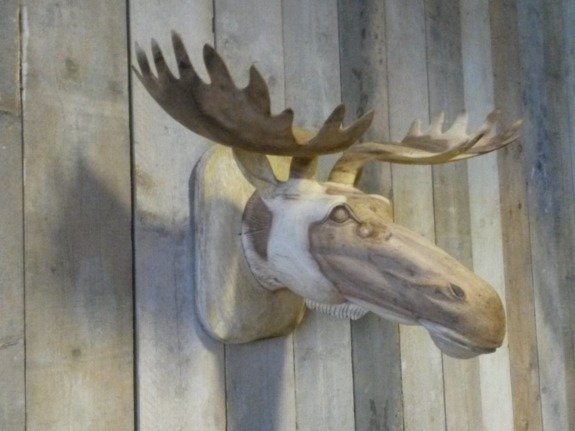 Houten eland kop groot