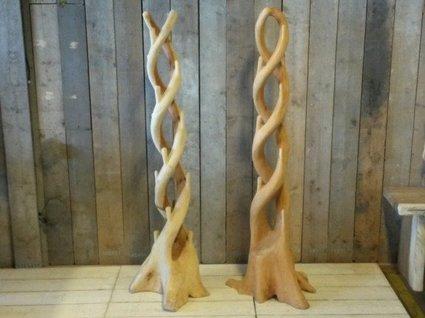 Staande kapstok hardhout - dubbel