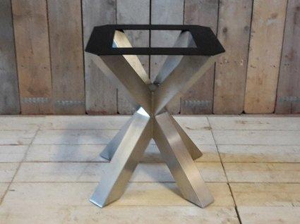 Dubbele X poot - RVS 68cm