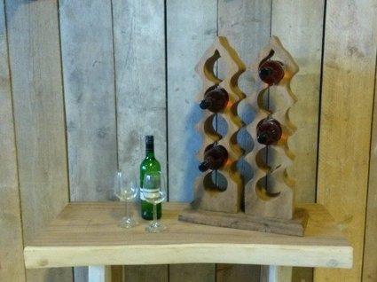 Houten wijnrek voor 15 flessen