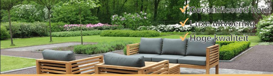 Houten Lounge Stoel Buiten.Teak Loungestoelen Kopen Puurteak Nl Puurteak Tuinmeubelen