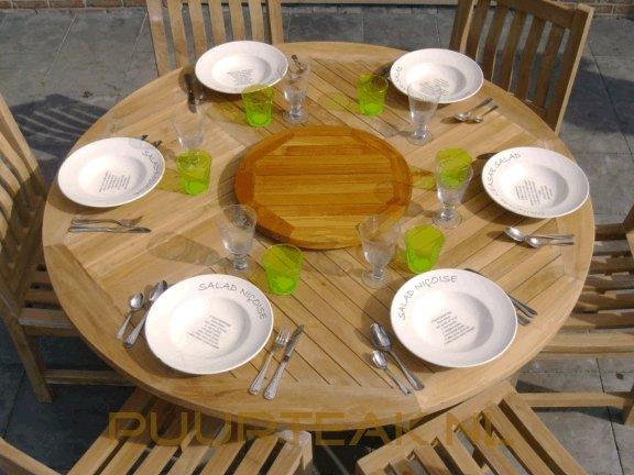 Teak tuintafel Toscane  rond 155cm