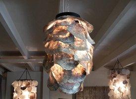 Oesterschelp lamp 30x55cm