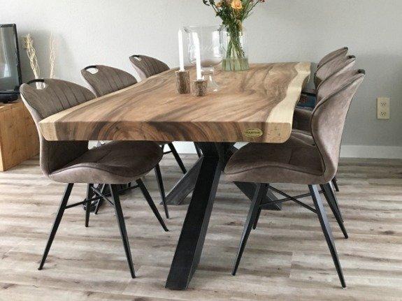 Bekend Stoere boomstam tafel 200cm - Puurteak Tuinmeubelen &CR71