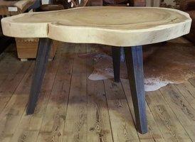 Metalen tafelpoot vierkant - rustiek - per stuk