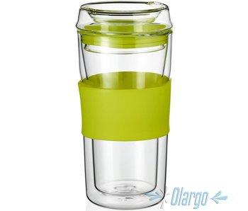 GARGO Thermobecher aus Glas G-T8 0,3 L (GRÜN)