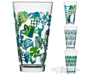 Sagaform  Trinkgläser 4 Stück aus Glas 30 cl (BLAU)