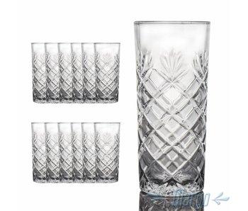 GARGO Longdrinkglas 12 Stück aus Glas 30 cl (KLAR)