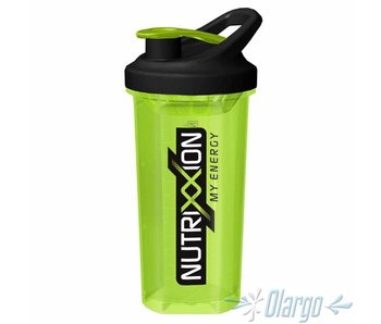 Nutrixxion Fitnessshaker mit Ball 0,7 L (GRÜN)