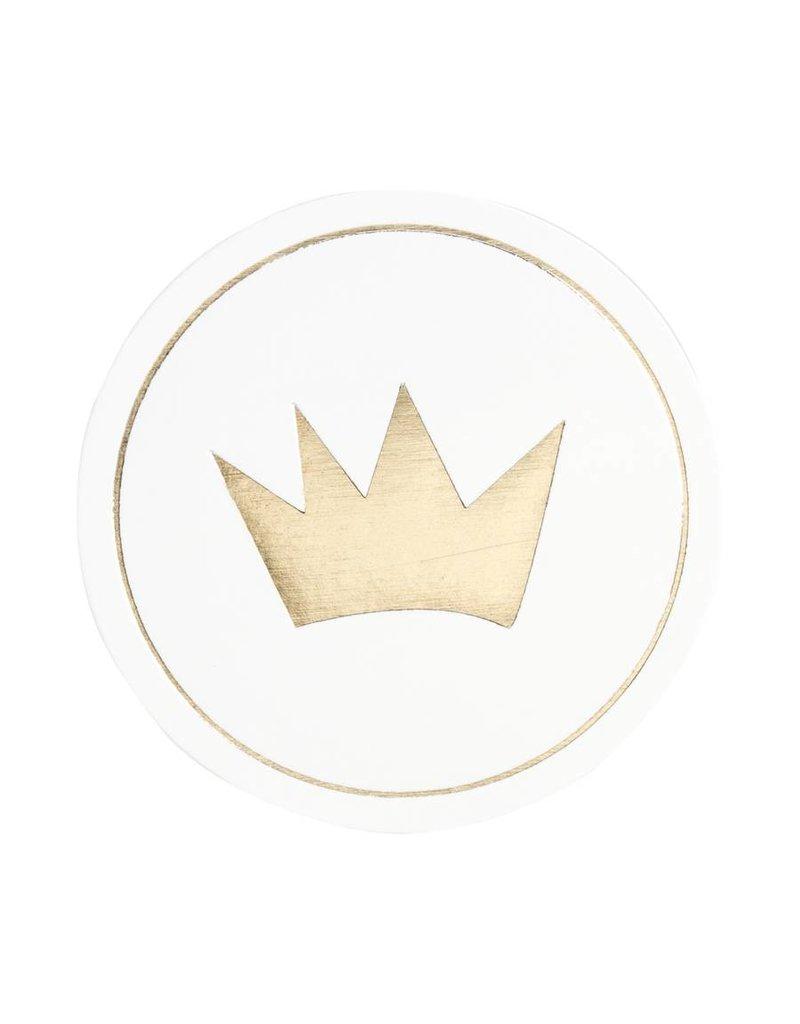 Buromac Sluitzegels kroontje van goud per vel van 10 stuks