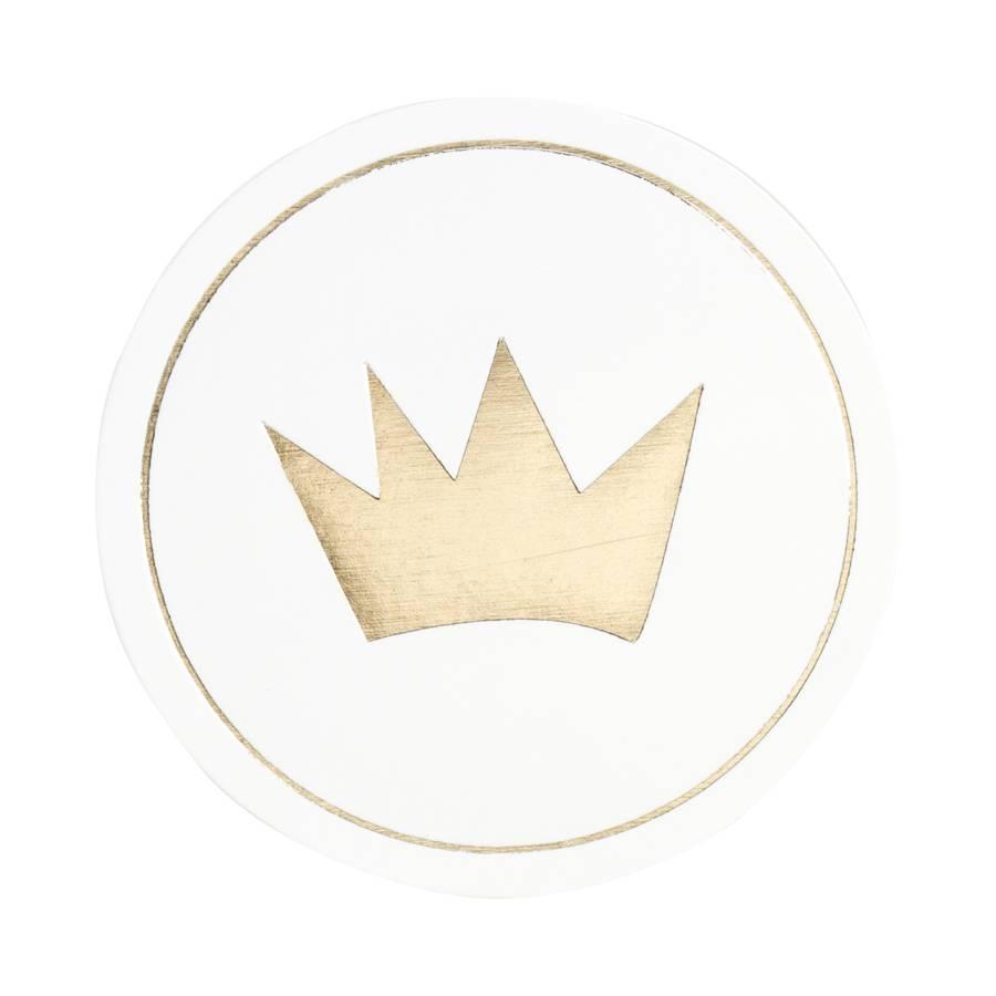 Buromac Pirouette Sluitzegels kroontje van goud per vel van 10 stuks