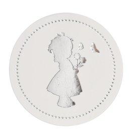 Buromac Sluitzegels meisje zilver