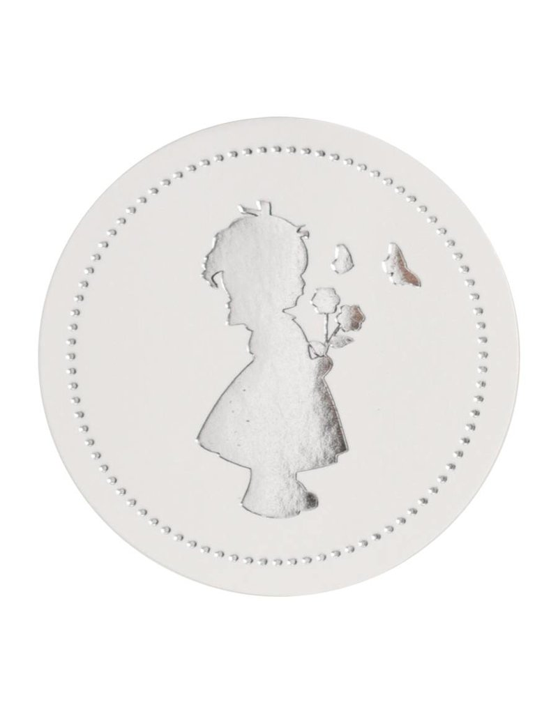 Buromac Sluitzegels meisje zilver per vel van 10 stuks