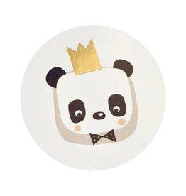 Buromac Pirouette Sluitzegels Panda met kroontje van goud