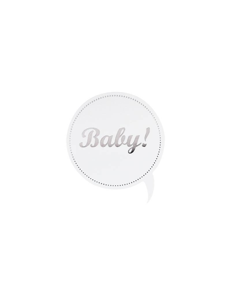 Buromac Sluitzegels Baby Zilverfolie per vel van 10 stuks