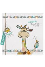 Belarto Welcome Wonder 2017 Geboortekaart met vrolijke giraf en labeltje (717048)