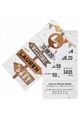 Belarto Welcome Wonder 2017 Geboortekaart met wegwijzers,  splitpen en labels (717027)