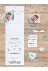 Belarto Welcome Wonder 2017 Geboortekaart met babyfoto, hip touw en labels (717034)