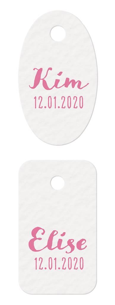 Belarto Welcome Wonder 2017 Geboortekaart met romantisch wikkel, lint en labeltje(s) (717032)