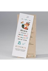 Buromac Pirouette Geboortekaart in kraftlook met vosje met verentooi (507099)