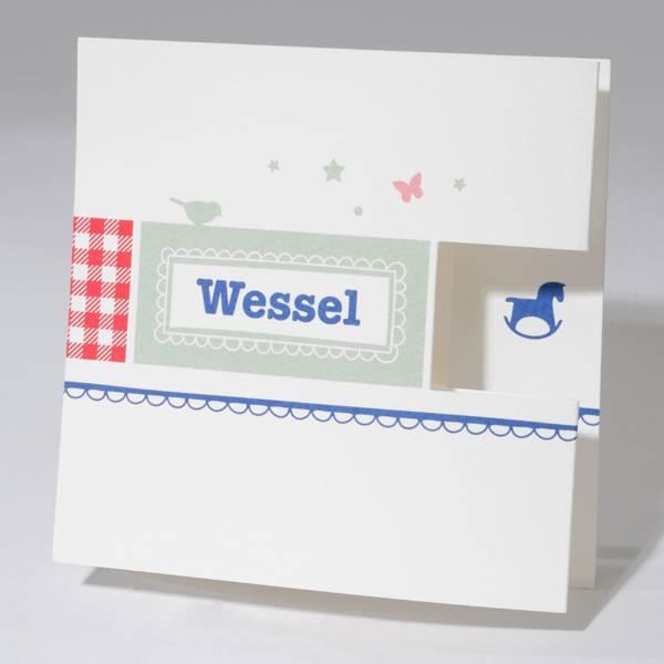Familycards Klein Wonder Geboortekaartje Wessel (63354)