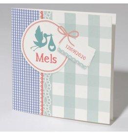 Familycards Klein Wonder Geboortekaartje Mels