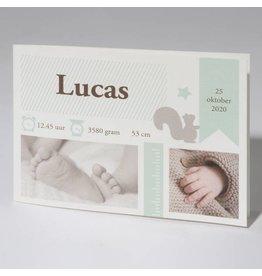 Familycards Klein Wonder Geboortekaartje Lucas