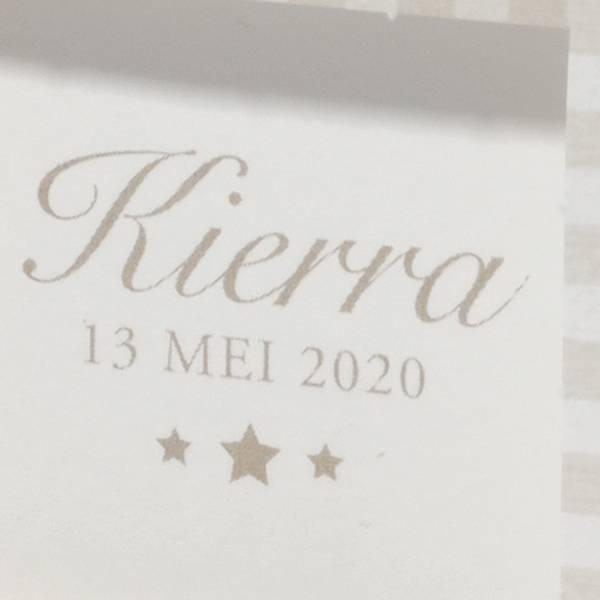 Familycards Klein Wonder Geboortekaartje Kierra (63709)