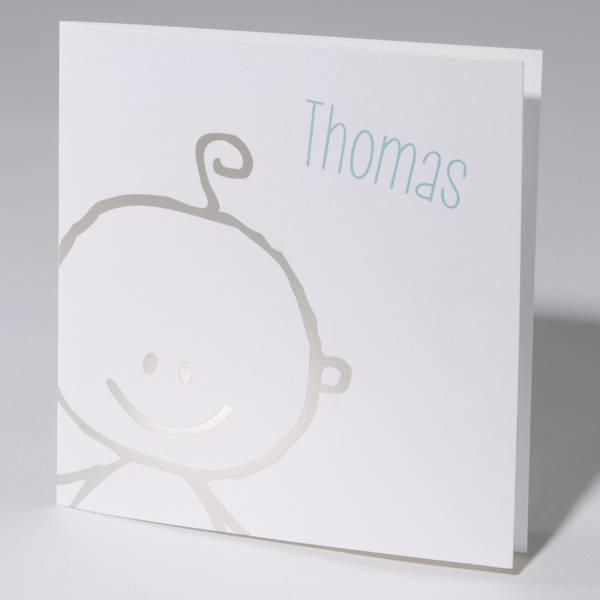 Familycards Klein Wonder Geboortekaartje met zilveren baby (63713)