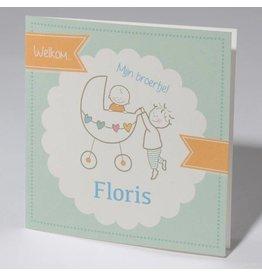 Familycards Klein Wonder Geboortekaartje voor broertje