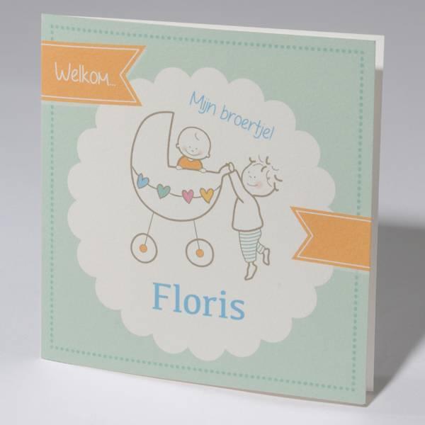 Familycards Klein Wonder Geboortekaartje voor broertje (63717)