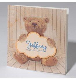 Familycards Klein Wonder Geboortekaartje 'Teddy beer'