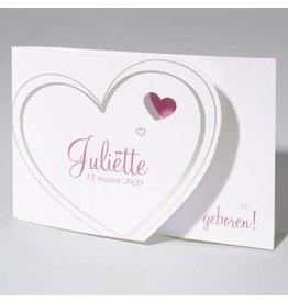 Familycards Klein Wonder Geboortekaartje Juliette