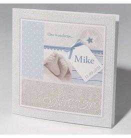 Familycards Klein Wonder Geboortekaartje Mike