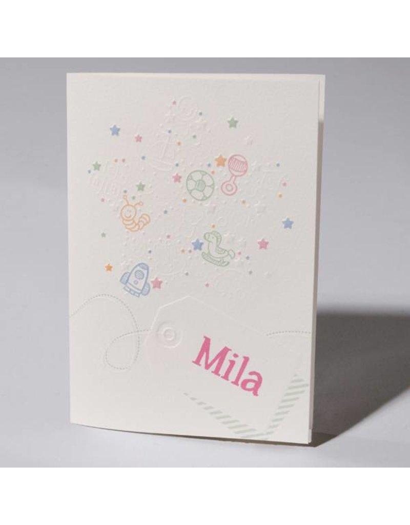 Familycards Klein Wonder Geboortekaartje Mila (63743)