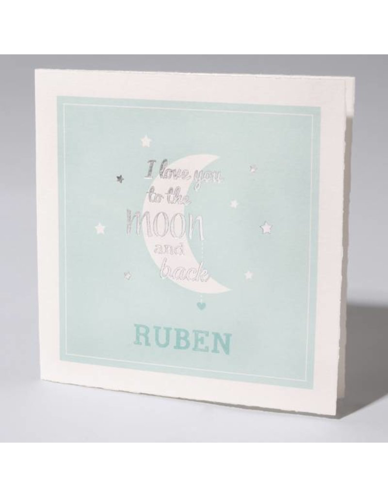 Familycards Klein Wonder Geboortekaartje 'I love you to the moon and back' (63744)