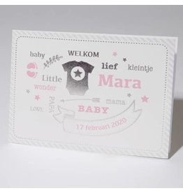 Familycards Klein Wonder Geboortekaartje Mara