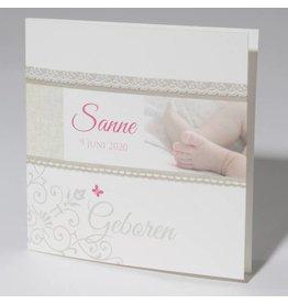 Familycards Klein Wonder Geboortekaartje Sanne