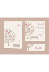 Belarto Bohemian Wedding Trouwkaart met vlindertjes en lief bankje op trendy kraftpapier (727040)