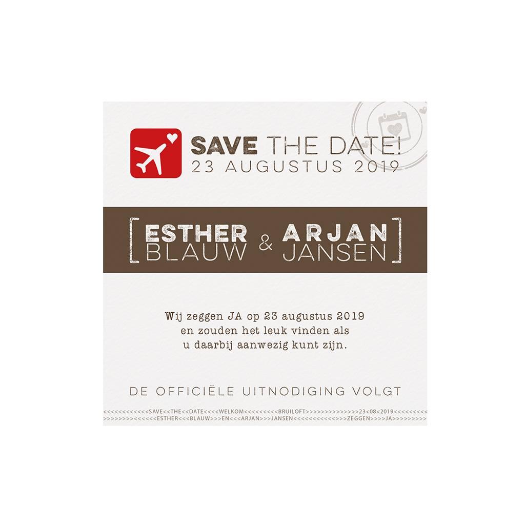 Belarto Bohemian Wedding Save the date bij trouwkaart paspoort (727538)