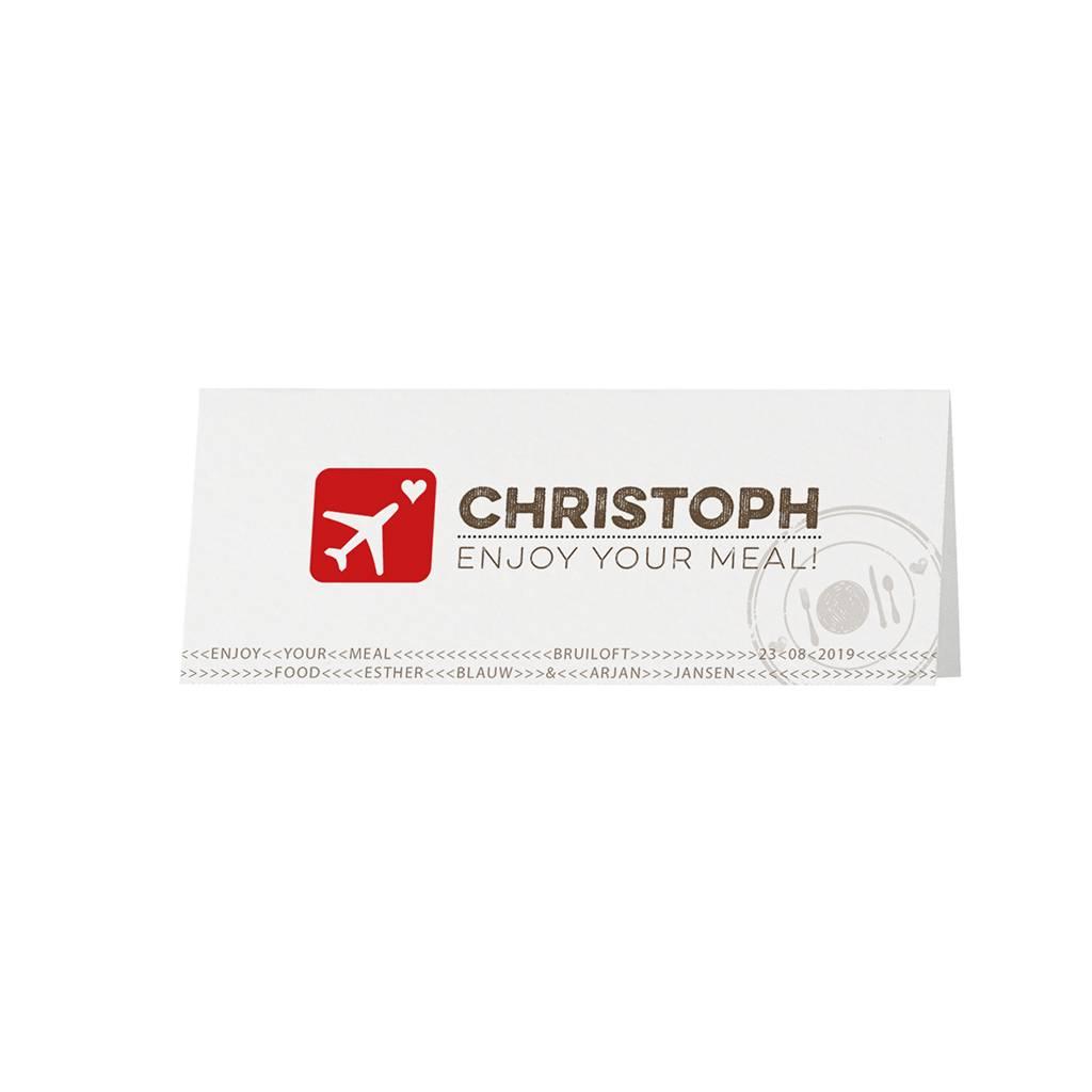 Belarto Bohemian Wedding Tafelkaartje bij trouwkaart als paspoort inclusief boarding pass en bagagelabel (727738)