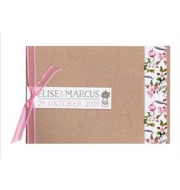 Belarto Bohemian Wedding Trouwkaart met bloemmotief en organza lintje