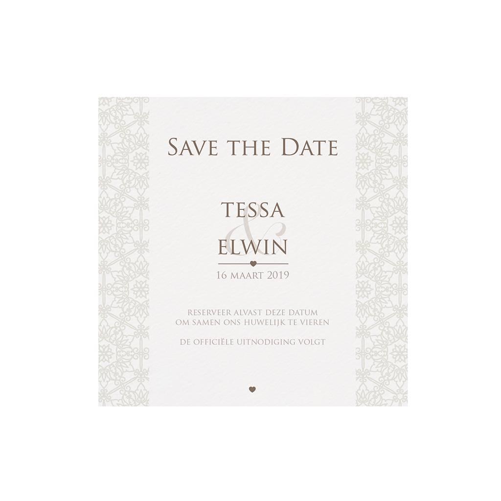 Belarto Bohemian Wedding Save the date bij trouwkaart pochette trouwkaart in parelmoer (727535)