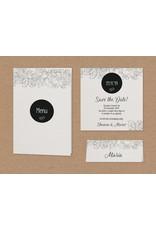 Belarto Bohemian Wedding Trouwkaart in parelmoer met wikkel en bloemenmotief (727025)