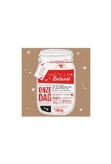 Belarto Bohemian Wedding Bedankkaart bij trouwkaart als Mason Jar met label (727502)