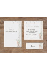 Belarto Bohemian Wedding Trouwkaart vintage met steigerhout en pop-up (727033)