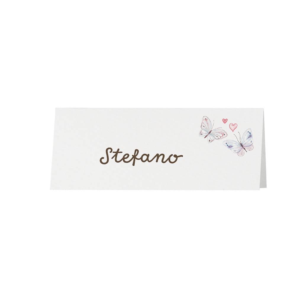 Belarto Bohemian Wedding Tafelkaartje bij trouwkaart in vintage look met kant en jute lintje (727730)