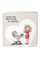 Belarto Bohemian Wedding Trouwkaart drieluik met vrolijke illustraties (727019)