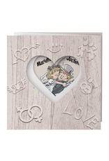 Belarto Bohemian Wedding Trouwkaart drieluik op structuurpapier met bruidspaar (727020)